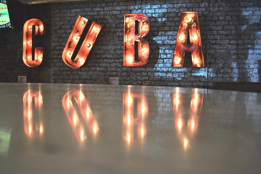 Revolucion De Cuba Bar Top After Polishing Manchester
