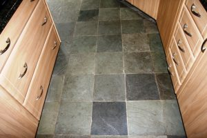 Chinese Riven Slate Before Cleaning in Chesterfield