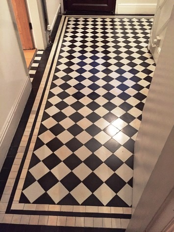 Victorian Floor Dated 1929 After Cleaning and Sealing