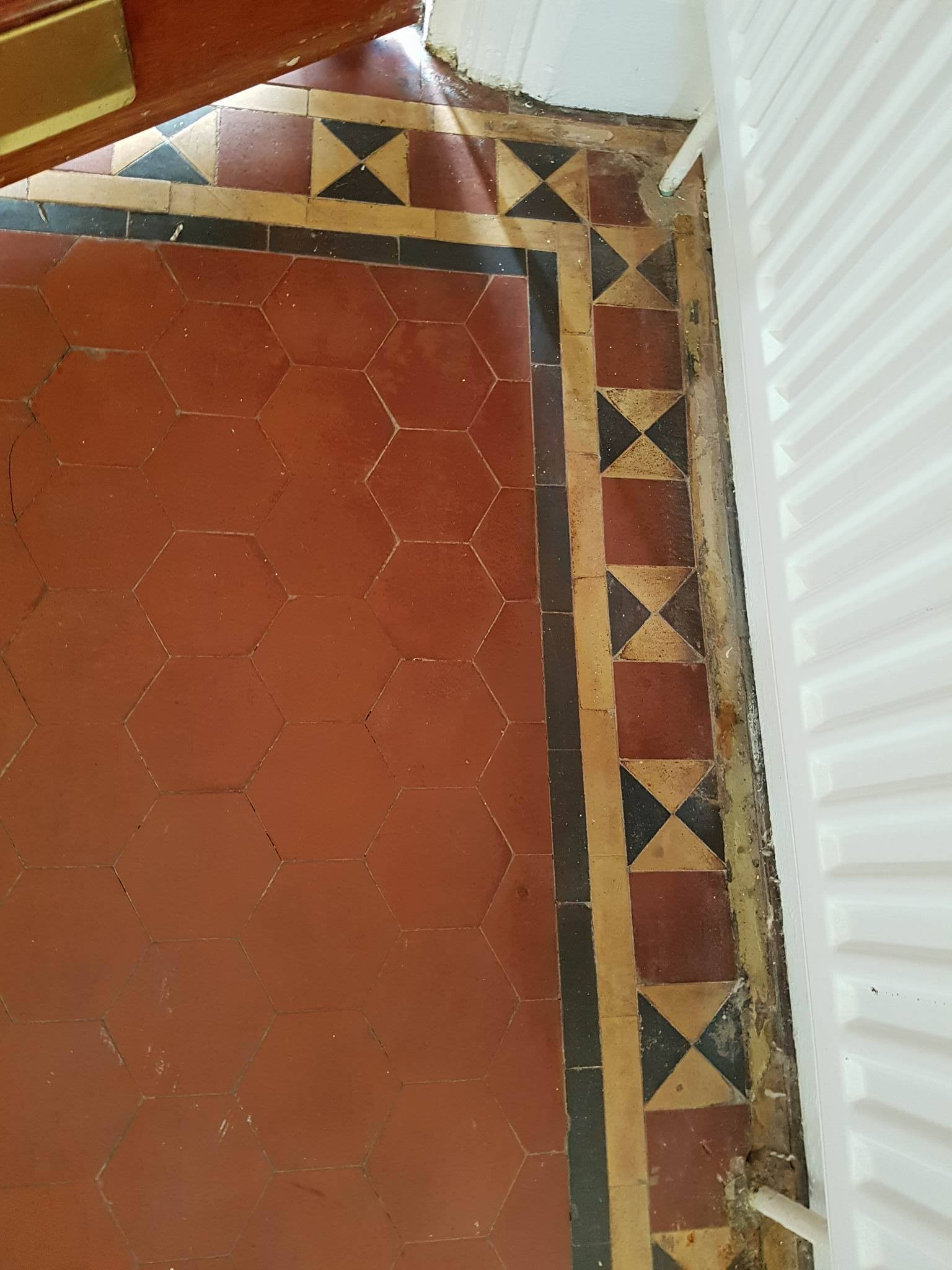 Victorian floor before renovation in Littleover