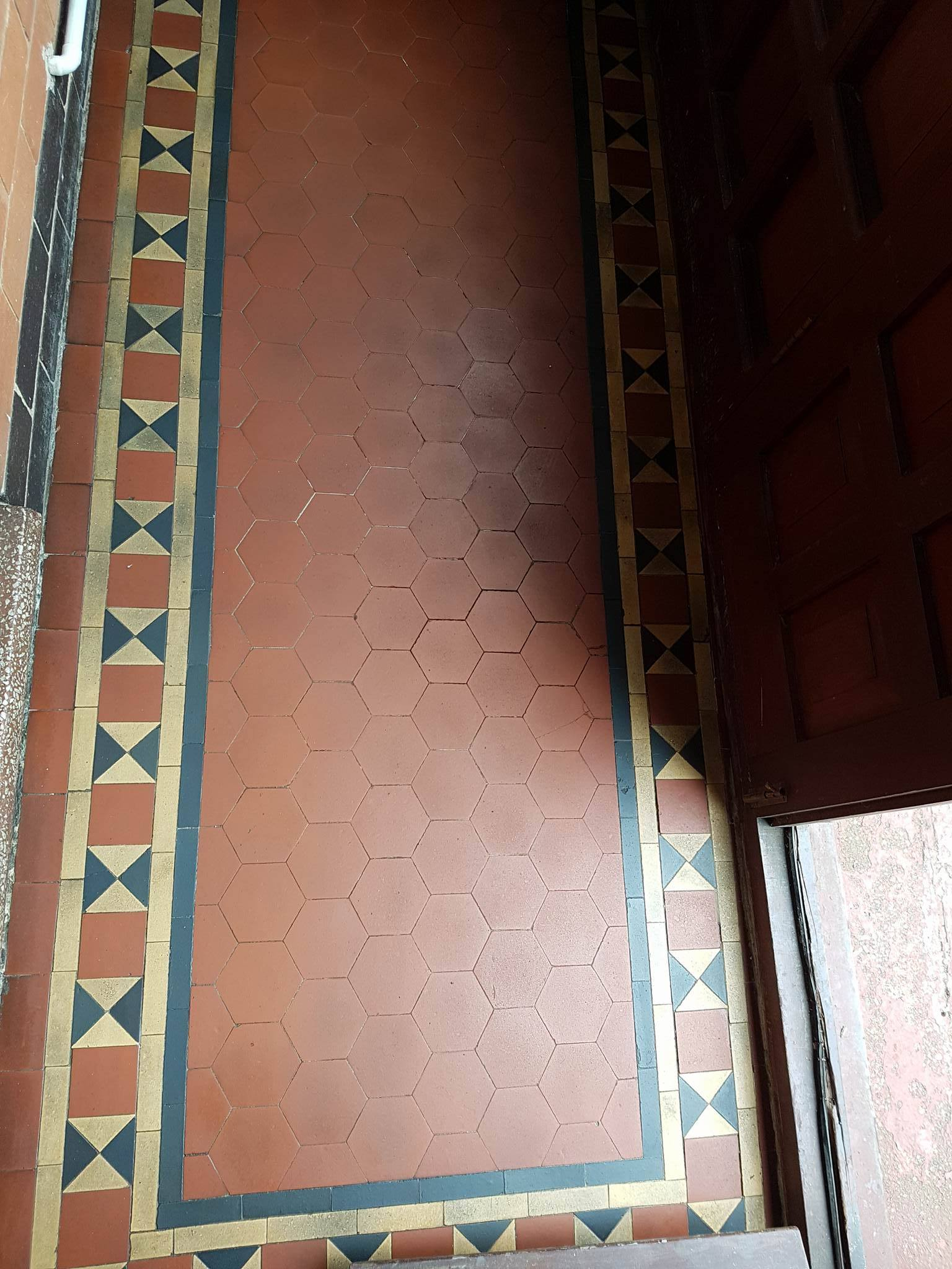 Victorian porch floor before renovation in Littleover