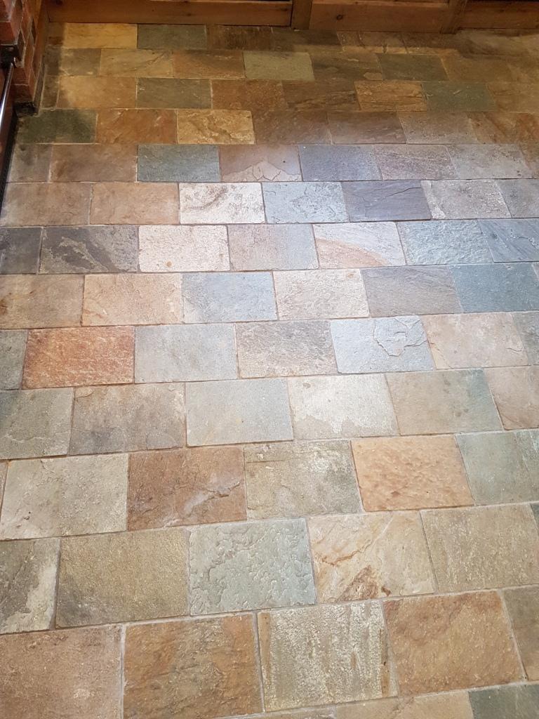 Welsh Slate Kitchen Floor Tiles Before Cleaning Ticknall Derby