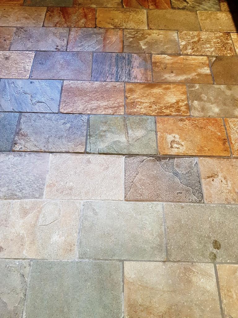 Welsh Slate Kitchen Floor Tiles Part Sealed Ticknall Derby