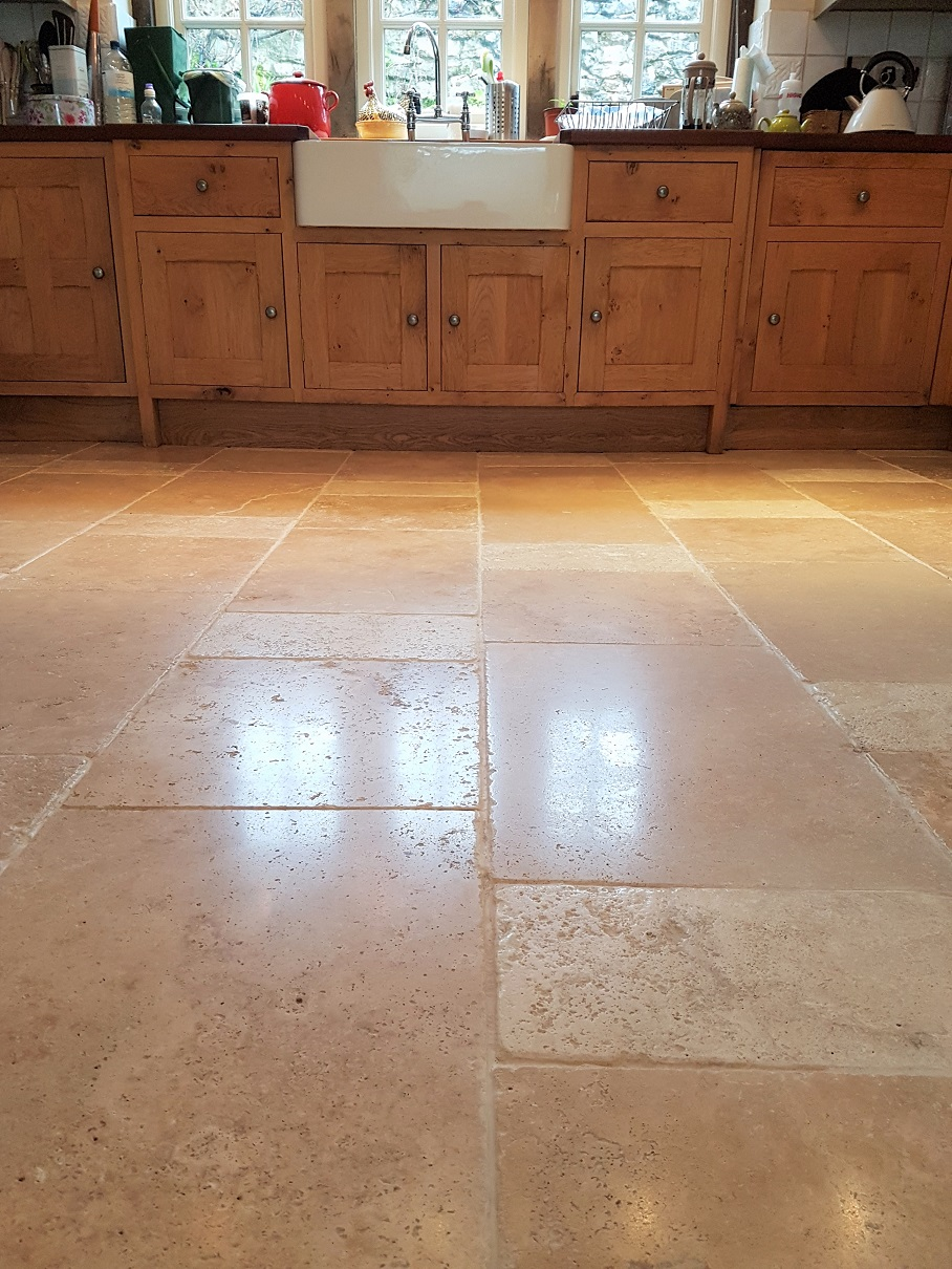 travertine flooring in kitchen derbyshire tile doctor your local tile and grout 6352