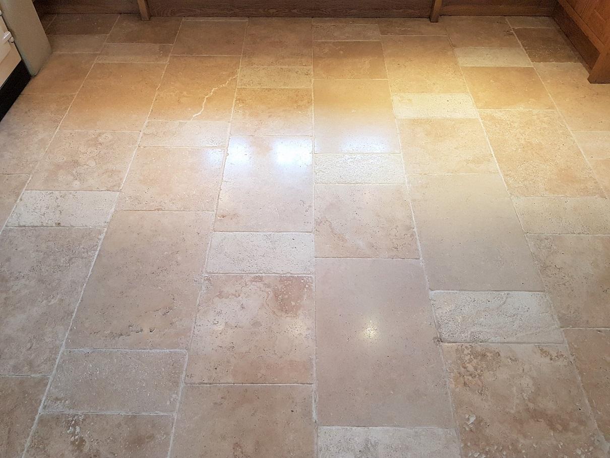 Travertine Kitchen Floor After Cleaning Parwich