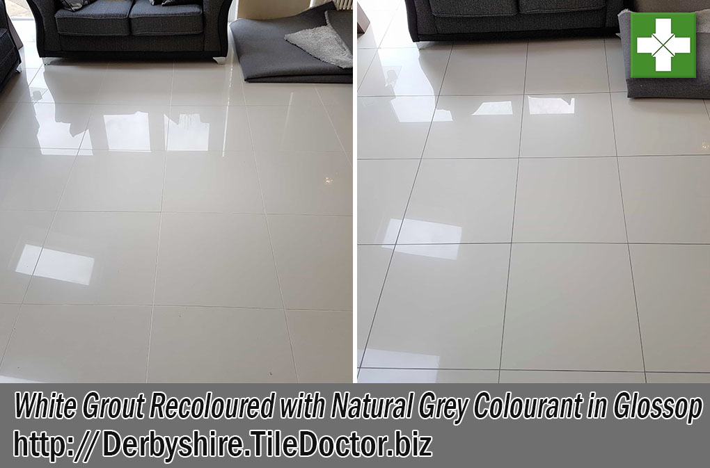 White Grout Recoloured Natural Grey Glosso