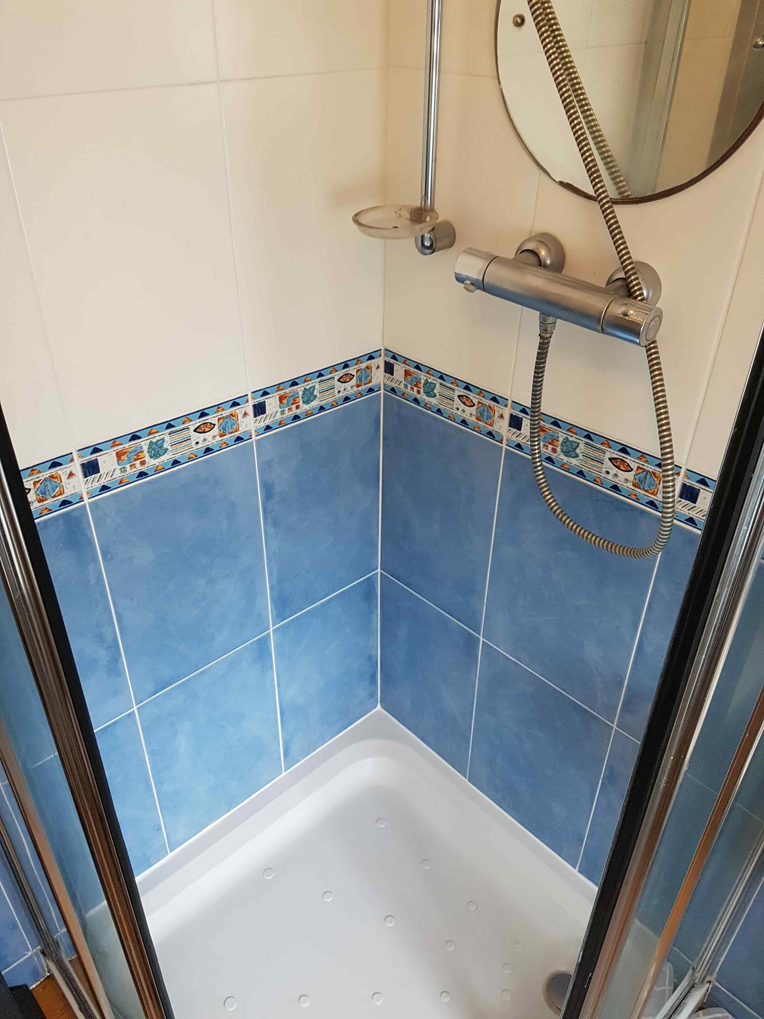 Shower Cubicle After Cleaning Chapel-en-le-Frith