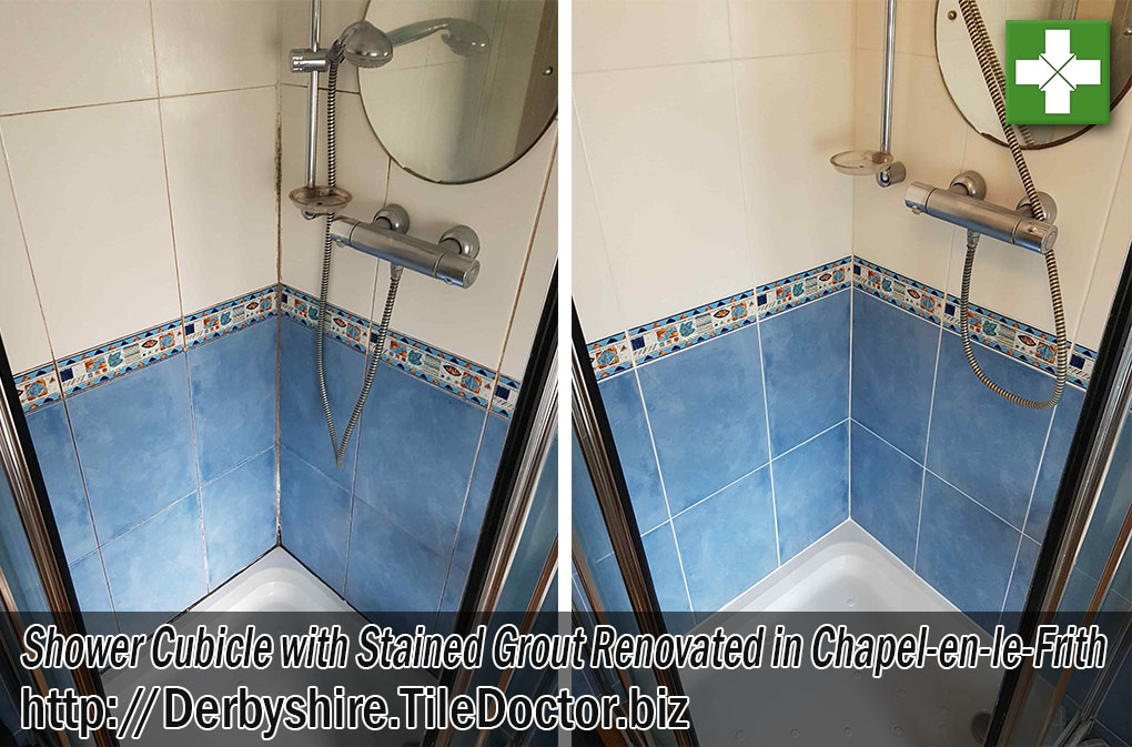 Shower Cubicle Before After Renovation Chapel-en-le-Frith